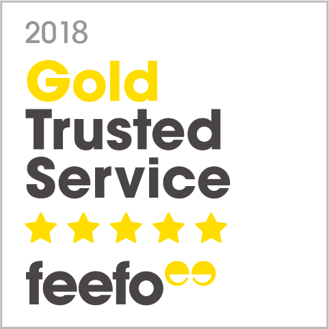 Feefo Gold Rating 2018